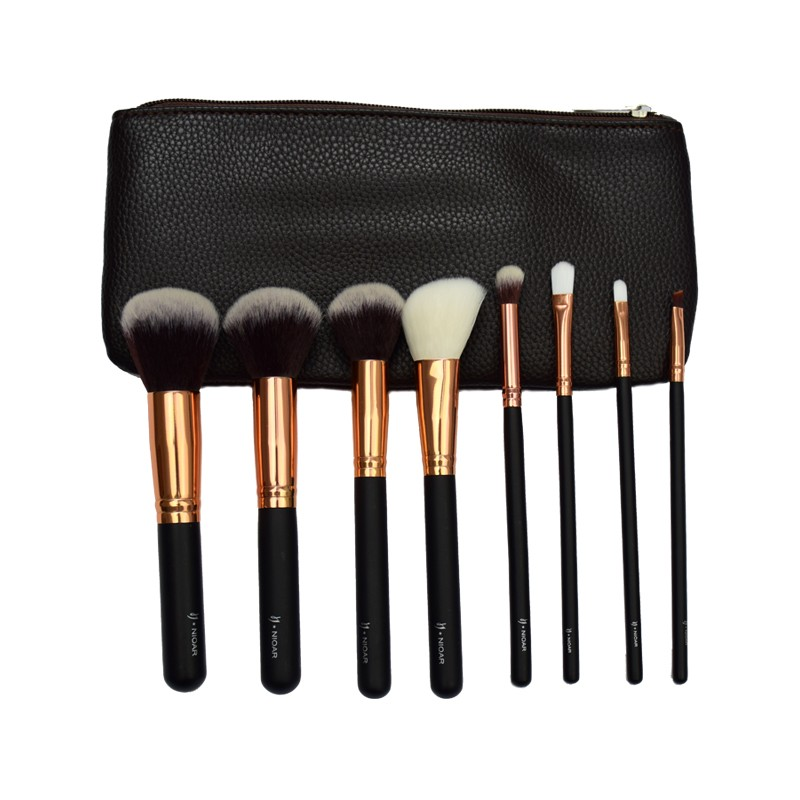 8 Piece Classic Makeup Brush Set