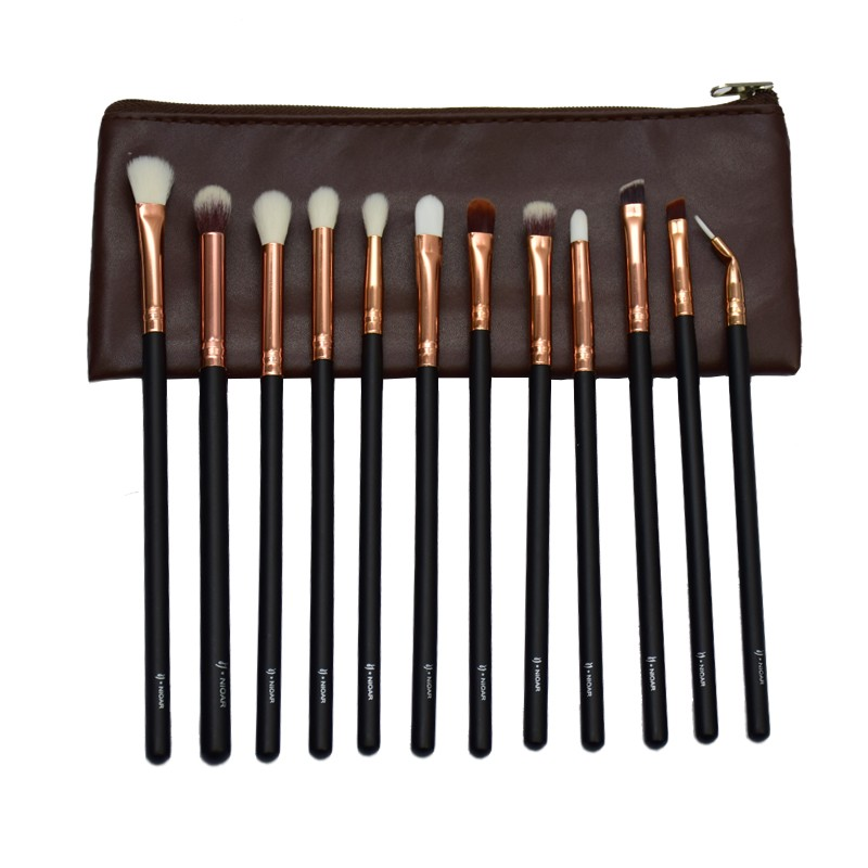 Nioar 12 Piece Complete Eye Brush Set