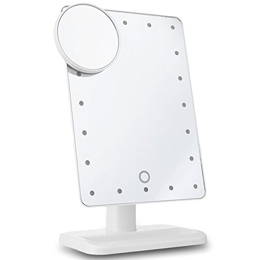 LED Makeup Mirror WHITE